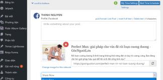 Đăng bài viết tự động lên mạng xã hội sử dụng Blog2Social
