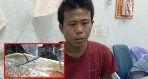 Tiền Giang: Nam thanh niên khoét tường tiệm vàng trộm 200 đôi bông tai và 5 sợi dây chuyền